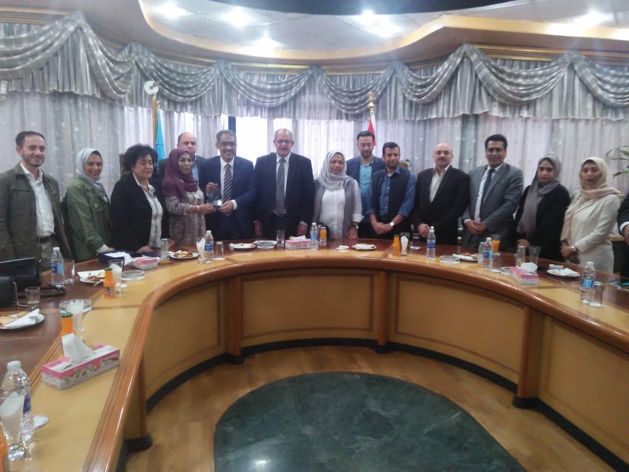 وفد جمعية الصحفيين يختتم زيارته للقاهرة زار استوديوهات الإنتاج الإعلامي واليوم السابع ونقابة الصحفيين