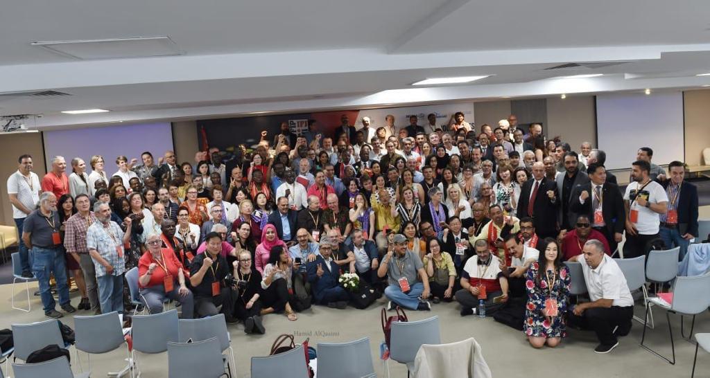 الحمادي يفوز بعضوية الاحتياط في اللجنة التنفيذية للاتحاد الدولي للصحفيين - جمعية الصحفيين الإماراتية تبارك فوز يونس مجاهد رئيساً للاتحاد الدولي للصحفيين