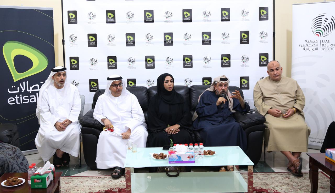 فرع جمعية الصحفيين الإماراتية في أبوظبي يحتضن أمسية الجلسة الشهرية الثالثة للصحبة الطيبة